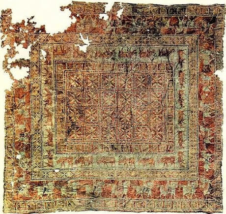 The Pazyryk Carpet, the oldest carpet found